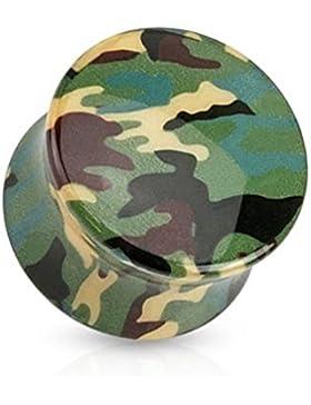 Paula & Fritz® Plug Saddle Fit aus Acryl Camouflage grün 6.5-16mm PA21