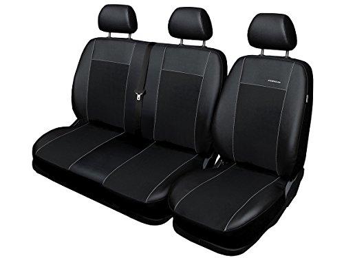 Renault Master Coprisedili per Auto su Misura, vestibilità Perfetta, coprisedili in Velour + Imbottitura in Maglia, Decorazione per Auto