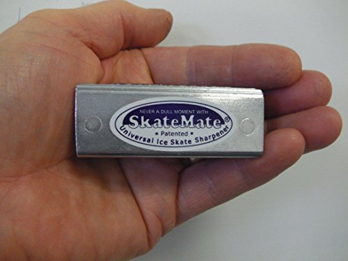 SkateMate patented handheld Ice Skate Sharpener / Conditioner for ALL ice skates, Ice Hockey, Speed skates or Dance!