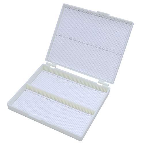 YeahiBaby Slide Box Profi Aufbewahrungsbox Mikroskop Aufbewahrungsbox 100 Gitter weiß (Dia-aufbewahrungsbox)