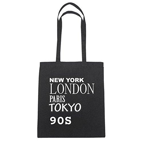 JOllify 90s di cotone felpato b6057 schwarz: New York, London, Paris, Tokyo schwarz: New York, London, Paris, Tokyo