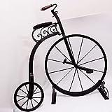 art der zeit Hochrad Eisen Fahrrad 83 cm x 80 cm Nostalgie Rad mit Ständer 50er alt Schnörkel