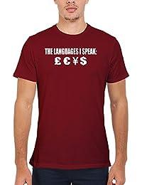 The Languages I Speak Money Novelty Femme Homme Men Women Unisex Top T Shirt