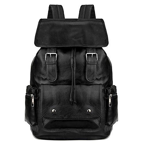 NY-close Lässiger Herren-Reiserucksack mit großer Kapazität, multifunktionaler Rucksack mit Mehreren Taschen, wasserfeste Schultasche mit großer Kapazität for 15,6-Zoll-Laptops (Color : Black)