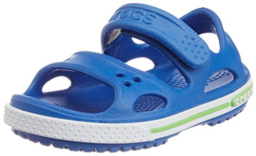Crocs Boy's Crocband II Sandal PS Sea Blue and White Rubber Sandals and Floaters - C12  available at amazon for Rs.1297