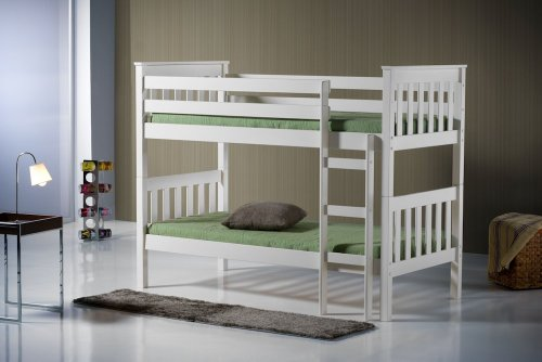 Birlea Seattle 3ft Single Wooden Bunk Bed, Ivory