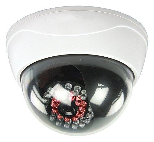 Knig-IP44-Profi-Dome-Kamera-Dummy-mit-leuchtenden-IR-LEDs-blinkender-LED-Tolle-berwachungskamera-Attrappe-Aussenbereich-Kameraatrappe-Innen-Auen-Fake-berwachung-Haus-Sicherheit-Security