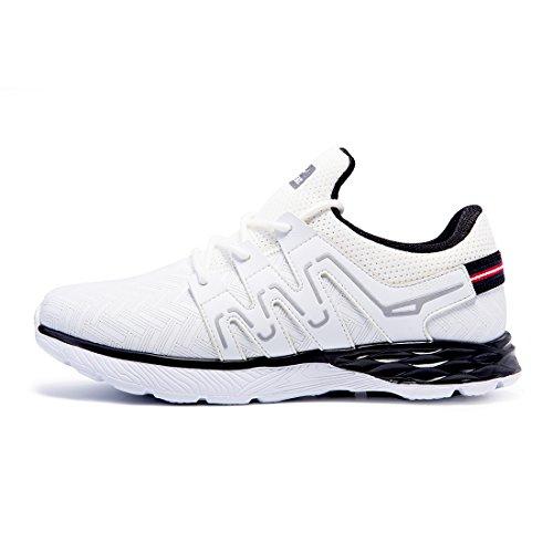 Onemix, Scarpe da Corsa da Ginnastica Running Uomo 2017 Bianco