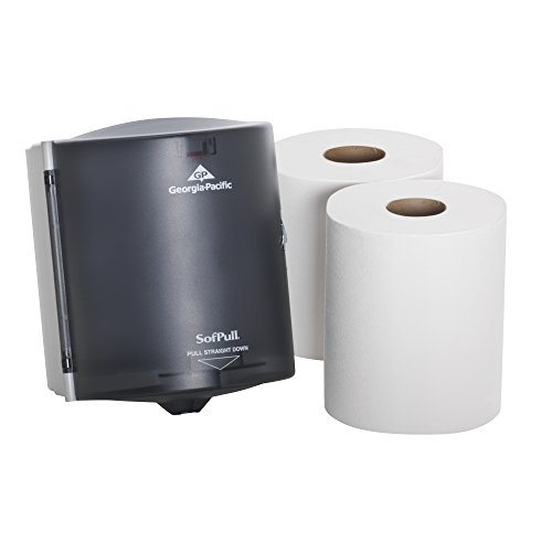 georgia-pacific-sofpull-58205-translucent-smoke-paper-towel-dispenser-trial-kit-with-2-rolls-of-pape