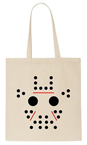 Jason Minimalist Mask Tote (Movie Jason Scary)