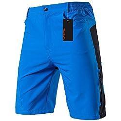 TOMSHOO Pantalones Cortos de Ciclismo Hombres Transpirable para Ciclismo Correr MTB o Deportes al Aire Libre