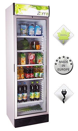 Zorro - Flaschenkühlschrank 390 ZCH - Glastüre - Reklametafel beleuchtet - Getränkekühlschrank 390 Liter