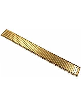 Minott Flex Band Ersatzband Uhrenarmband Edelstahl Zugband PVD Gelbgold 22855, Stegbreite:12mm