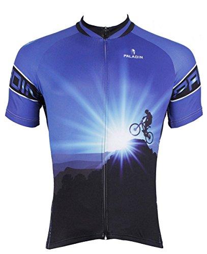 BININBOX® Herren kurzer Ärmel Shirt Radfahren Spitze Radtrikot Radsportbekleidung Fahrradbekleidung