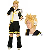 8 point full set M size hair net with headset with Kagamine Len Cosplay Costume Wig with (japan import)