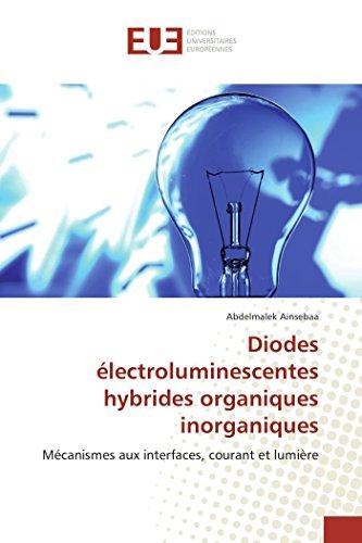 Diodes électroluminescentes hybrides organiques inorganiques: Mécanismes aux interfaces, courant et lumière par Abdelmalek Ainsebaa