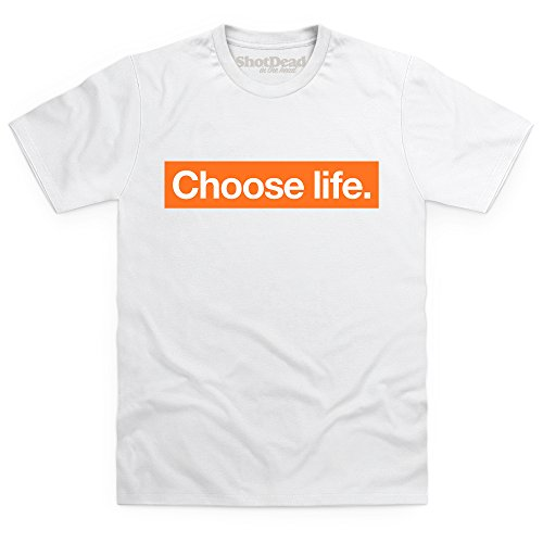 Choose Life Logo T-Shirt, Herren Wei