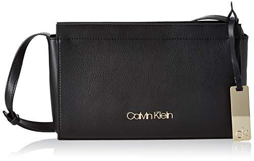 Calvin Klein Damen Enfold Ew Crossbody Umhängetasche, Schwarz (Black), 16x25x6cm
