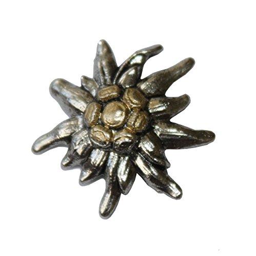 Hutanstecker | Hutabzeichen | Hutschmuck | Anstecker – Kleines Edelweiß – 3 x 3 cm