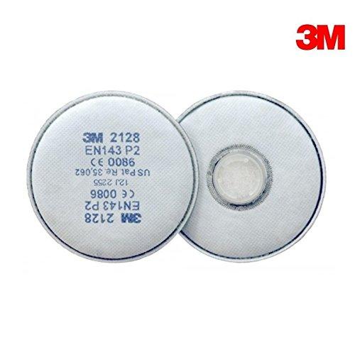 Set 2 Filtri 3M 2128 P2 Serie 2000 Per Semimaschere E Maschere 3M
