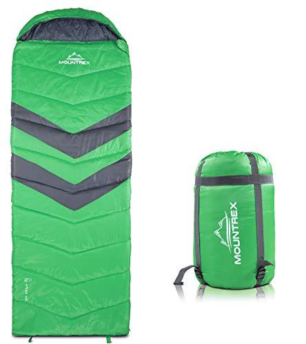 MOUNTREX® Deckenschlafsack für Camping, Outdoor & Festival | 3 Jahreszeiten Warmer Schlafsack 205 x 75cm | 1.6 Kg | Koppelbar - Links