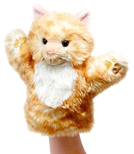 (Lashuma Plüsch - Handpuppe Katze Rot   Plüschtier Handspielpuppe   Tierpuppe ca. 25 cm)