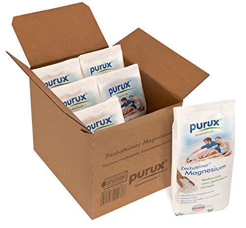 Purux Zechsteiner Magnesium 4 kg MgCl2 6X 670g geprüfte Kosmetikqualität, dermatologisch getestet