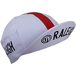 Ciclismo Retro Vintage fixie TI Raleigh gorra del equipo blanco y rojo
