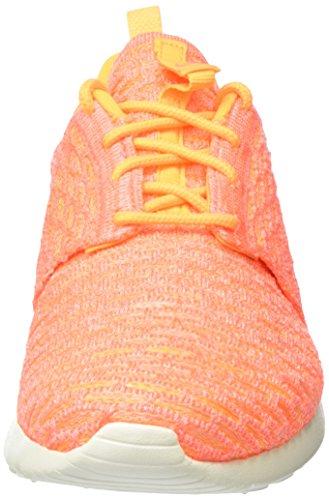 Nike - Roshe One Flyknit, Scarpe da ginnastica Donna Arancione (Laser Orange/Bright Mango-Sail)