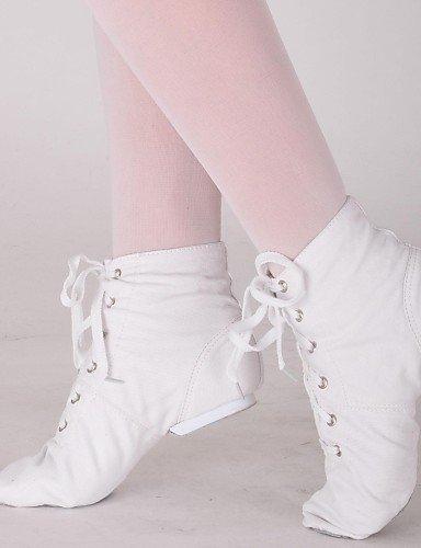 ShangYi Scarpe da ballo - Non personalizzabile - Donna - Danza jazz - Senza tacco/Ballerina - Tela - Nero / Rosso / Bianco White