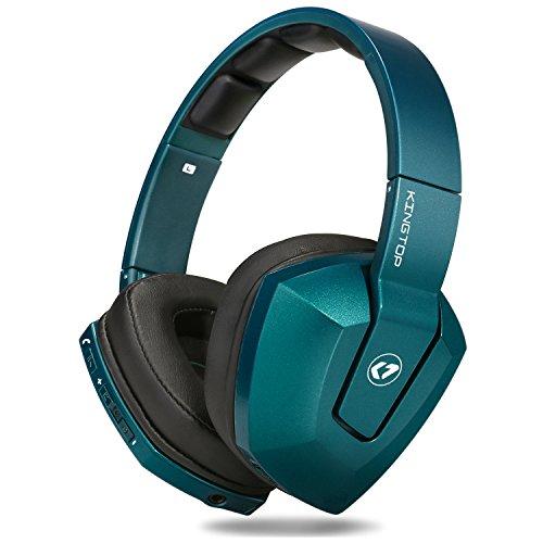 Preisvergleich Produktbild Bluetooth Kopfhörer KINGTOP Faltbares Bluetooth 4,1 Headset mit Super Bässe HiFi Stereo Klangqualität für Iphone, Android Smartphones, Tablets, Play Station 4, Tablets usw.