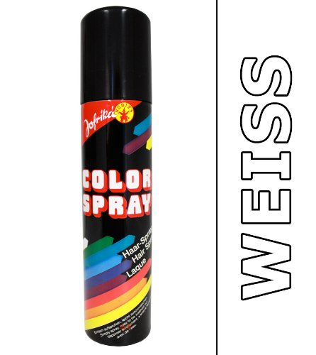 NET TOYS Haar Spray weiß Haarspray Colorspray Haarcoloration Farbspray Color Fasching Haarsprays Colorsprays Haarcolorationen