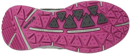 Columbia Youth Drainmaker Iii, Chaussures de Running Compétition Fille Noir (Dark Grey, Ultra Pink 089)