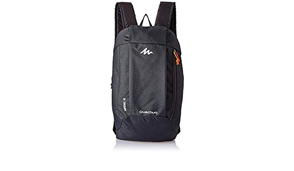 71f353677 Quechua Kids Adults X-Sports Decathlon 10L Outdoor Day Backpack Small -  Dark Charcoal  Amazon.in  Bags