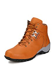 Eego Italy Tan Synthetic Leather Mens Boots