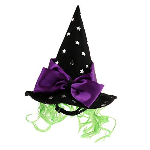 B Blesiya Kleine Hunde Katzen Hut Hexenhut Zauberer Hut Halloween Haustier Cosplay Kostüm - Stern (Sterne En Kostüm Halloween)