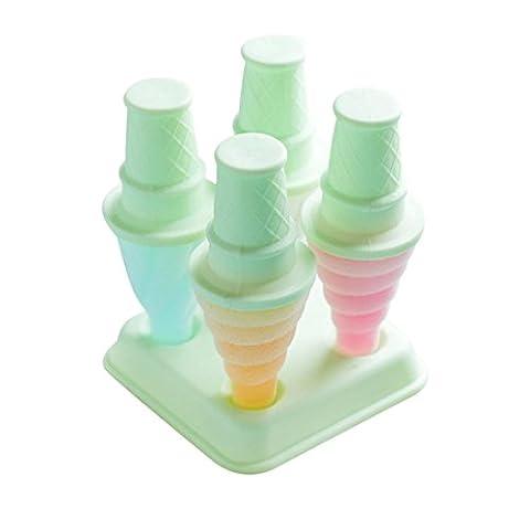 Bluestercool Bricolage Moule à la glace Moule Cuisine Bar Outils Jelly Mould Ice Box Ice Sticks Moule (12,5 * 12,5 * 16cm,