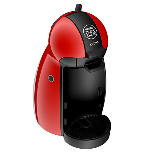 Krups YY1051FD Machine à Café à Capsules Nescafé Dolce Gusto Piccolo Rouge Manuelle Qualité Professionnelle Pression 15 Bars Large Choix de Boissons Chaudes et Froides