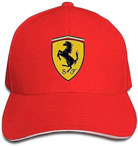 NR Ferrari Sandwich Peaked Hat/Cap Red