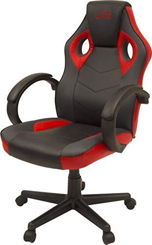 Speedlink YARU Gaming Chair Schreibtischstuhl, Schwarz-Rot, 61 x 57 x 111-123cm (B × T × H)