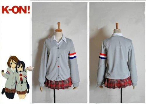 Yui Kostüm Cosplay Hirasawa - Sunkee K-ON! Cosplay Hirasawa Yui Uniform Kostüm, Größe L ( Alle Größe Sind Wie Beschreibung Gesagt, überprüfen Sie Bitte Die Größentabelle Vor Der Bestellung )
