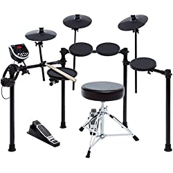 Alesis Burst Kit Electronic Drum Kit Bundle with More Than 100 Sounds, Drum Stool, Drum Sticks, Headphones, Pedals and 4 Post Rack