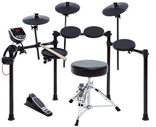 Alesis Burst Kit, Elektronisches Schlagzeug e-Drum Set Bundle mit 7 Drum Pads, Drum Rack, USB MIDI Drum Modul mit Kopfhörer-Anschluss, Drum Sticks, Hocker und Kopfhörer