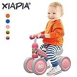 XIAPIA Vélo sans pédales 10-24 Mois Vélo Bébé Baby Walker Jouets pour 1 an Bébé Jouet Petit Premier Cadeau Noël (Canard Rose)