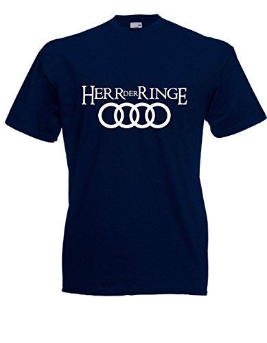 Textilmonster T-Hemd - Herr der Ringe (L, Navy)