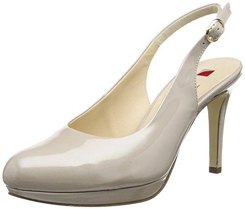 Högl Lila, Chaussures à talons avec bride à l'arrière femme Beige - Beige (Cotton 0800)