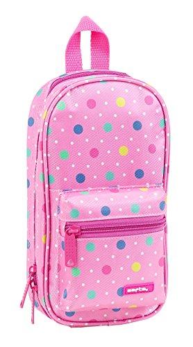 Safta Neceser Con 4 Estuches Safta Dots Pink Oficial