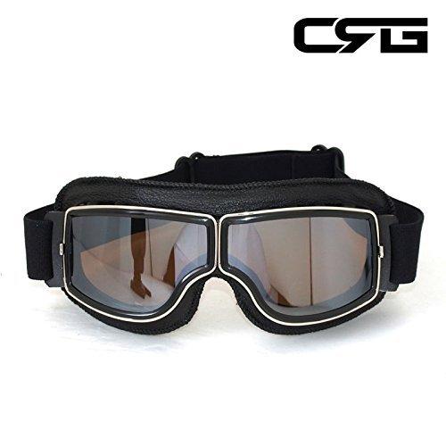 f04c68a2e9c463 CRG Sports vintage Aviator Pilot Style moto Cruiser Scooter Goggle T13  T13bcb – Parent