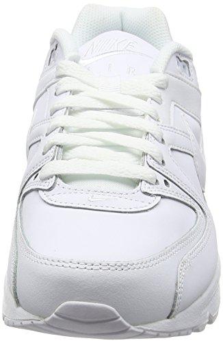Nike Air Max Command Leather, Chaussures de Running Entrainement Garçon Blanc (White/White/Metallic Silver)