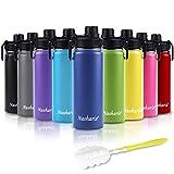 Nasharia Trinkflasche Edelstahl Wasserflasche, 540ml Vakuum Isolierte Edelstahl Trinkflasche aus Hochwertigem Edelstahl für